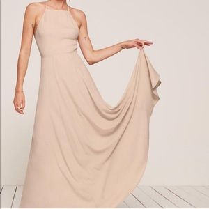 Reformation Myrtle Maxi Dress Champagne Sz 6